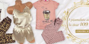 3 pijamale dama oferta